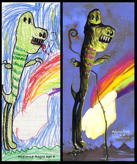 lukisan anak-anak oleh orang dewasa 17