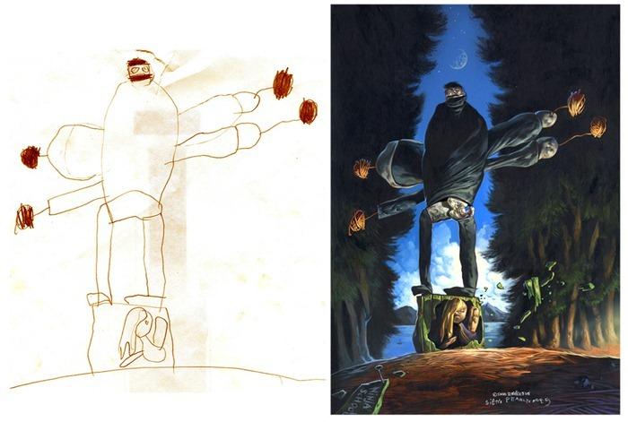 lukisan anak-anak oleh orang dewasa 18