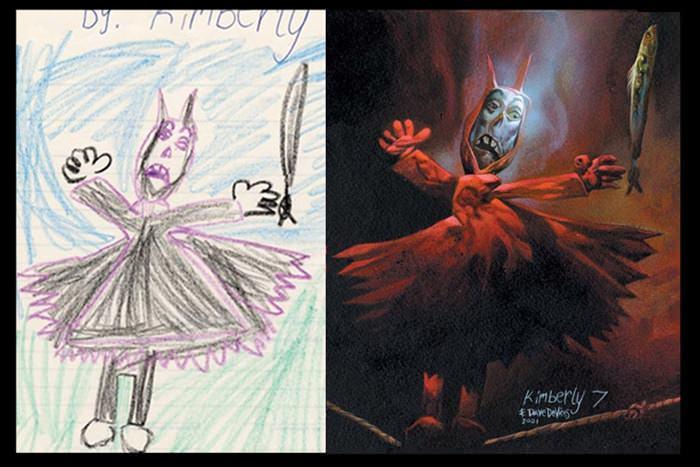 lukisan anak-anak oleh orang dewasa 4