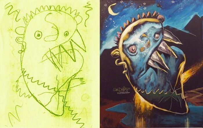 lukisan anak-anak oleh orang dewasa 5