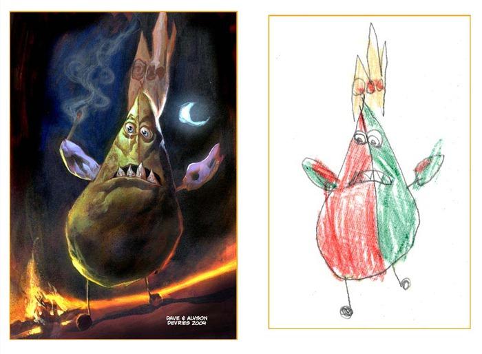 lukisan anak-anak oleh orang dewasa 6