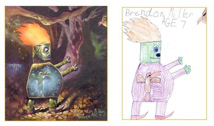 lukisan anak-anak oleh orang dewasa 8