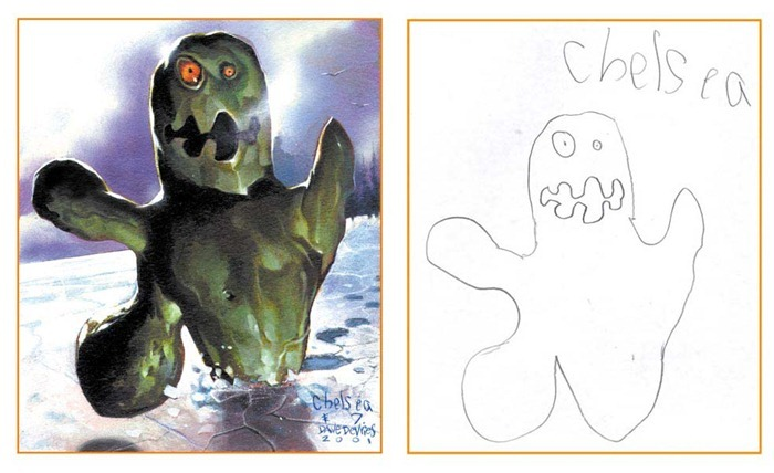 lukisan anak-anak oleh orang dewasa 9
