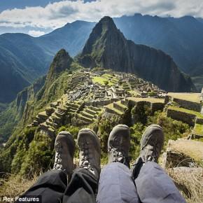 Foto saat liburan di Machu Picchu Peru