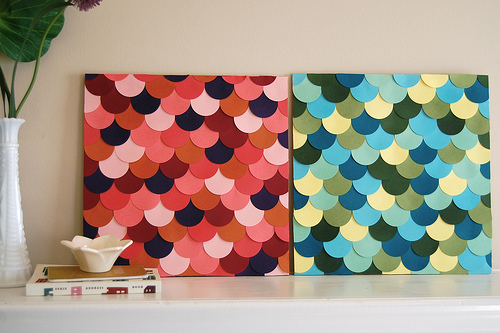 Kreativiti Menggunakan Kertas Warna Desainrumahid Ide Kreatif Membuat Karya Seni Dari 4