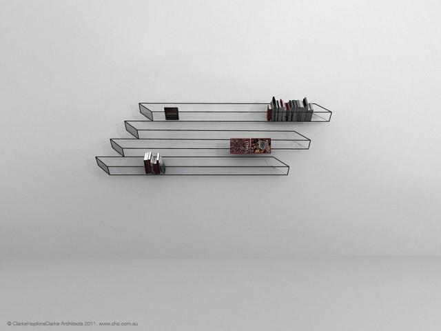 desain lemari buku kreatif bias of thoughts 1