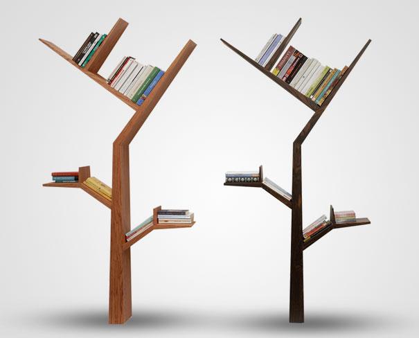 desain lemari buku kreatif booktree 1