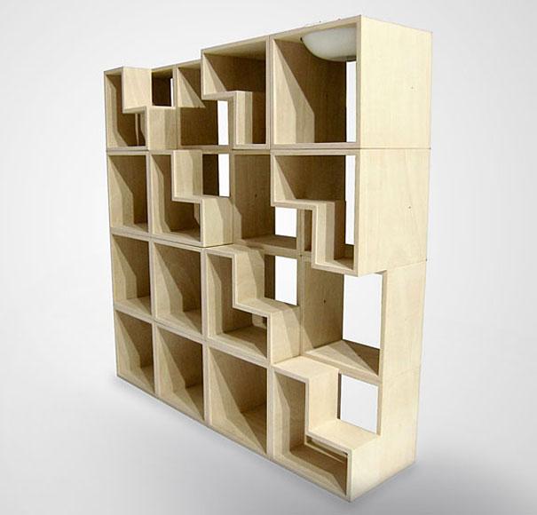 desain lemari buku kreatif cat library 2