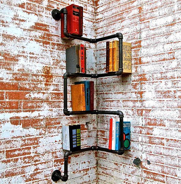 desain lemari buku kreatif ladder 1