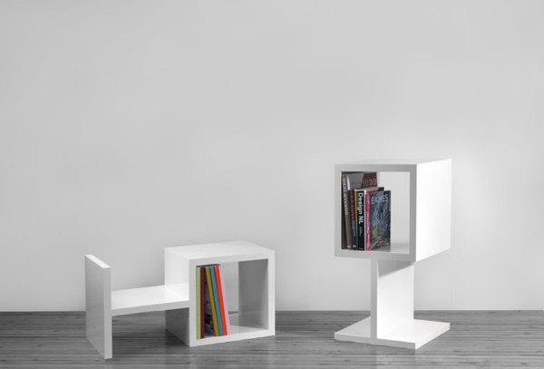 desain lemari buku kreatif oh 1