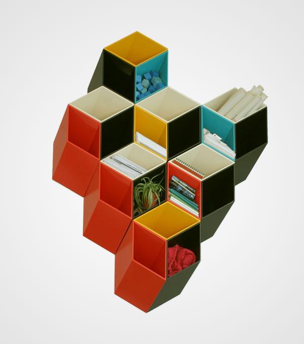 desain lemari buku kreatif second and half dimension 1