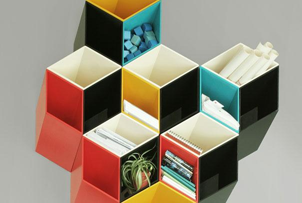 desain lemari buku kreatif second and half dimension 2