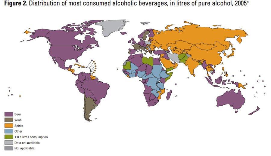 peta distribusi minuman alkohol di dunia