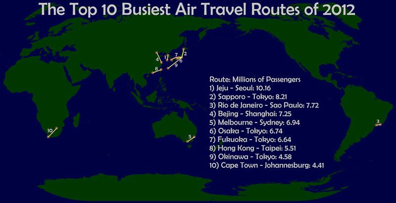peta dunia penerbangan tersibuk
