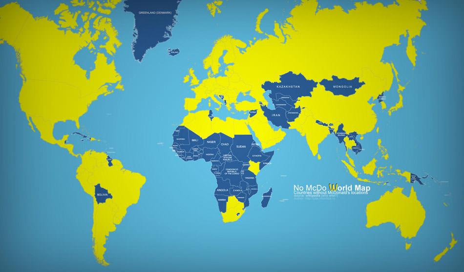 peta mcdonalds di seluruh dunia