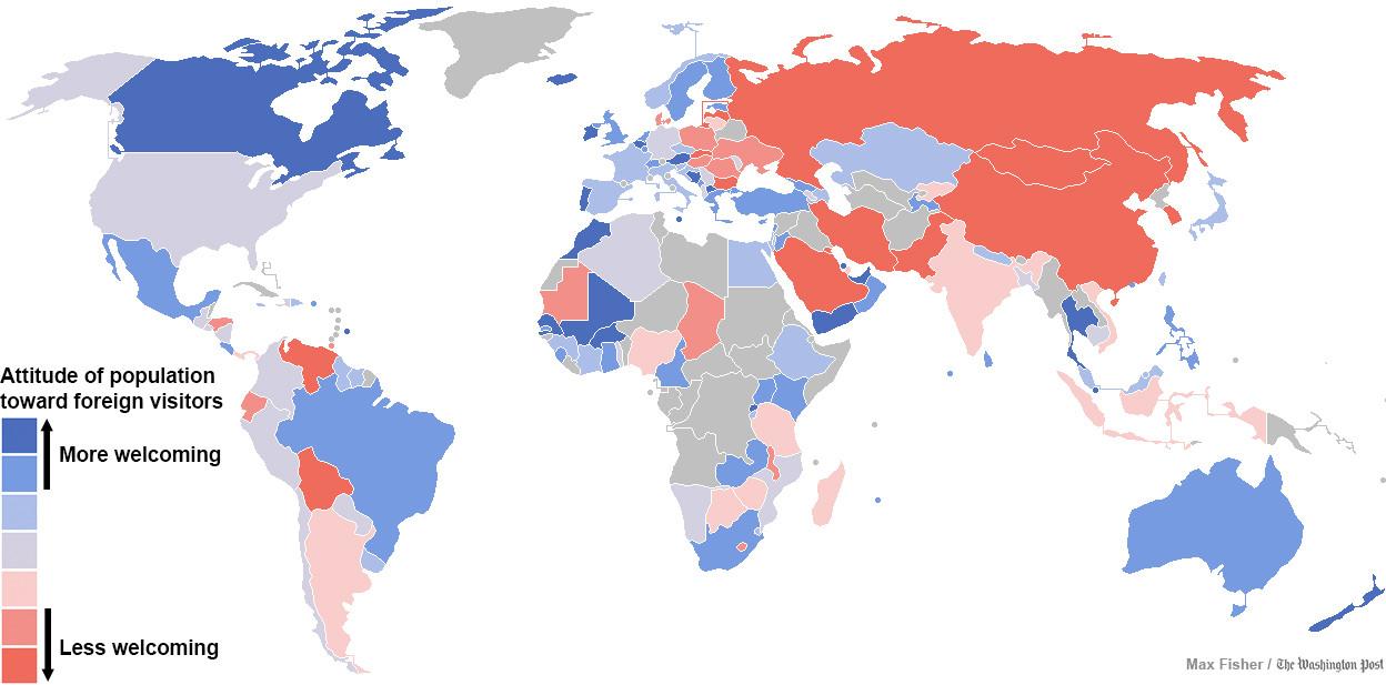 peta negara paling ramah di dunia