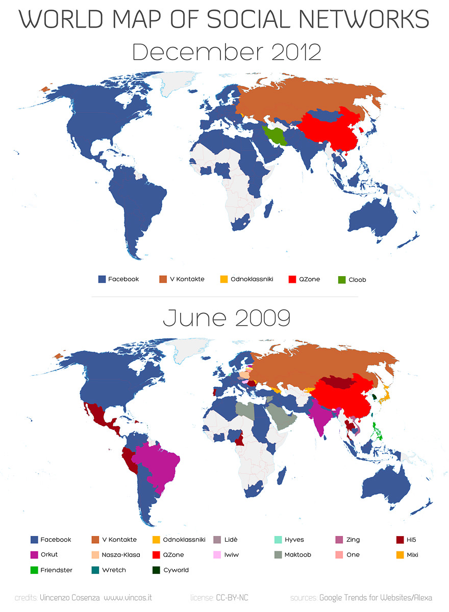 peta pengguna social media populer