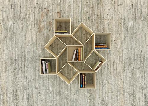 desain lemari buku lipat kreatif 3
