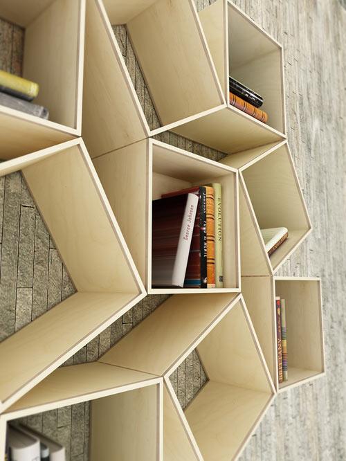 desain lemari buku lipat kreatif 2