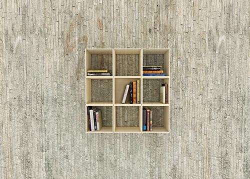 desain lemari buku lipat kreatif