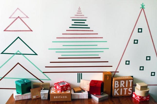 cara membuat pohon natal dari washi tape