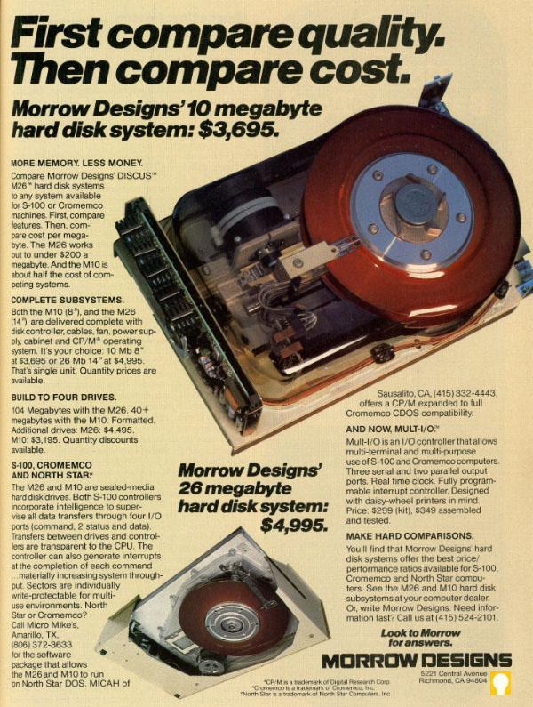 iklan komputer jadul klasik 10mb harddisk