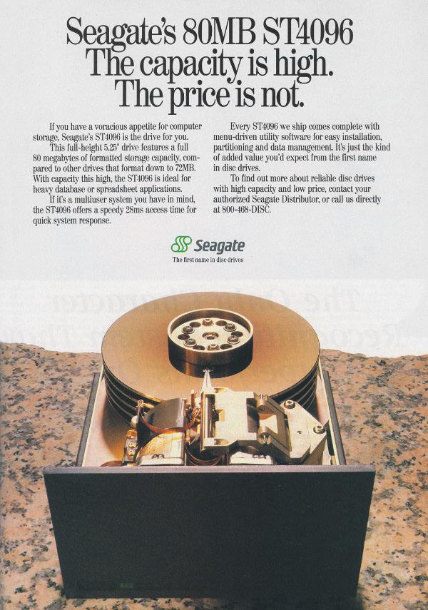 iklan komputer jadul klasik harddisk seagate