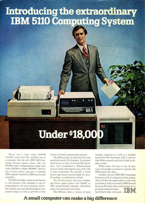 iklan komputer jadul klasik ibm