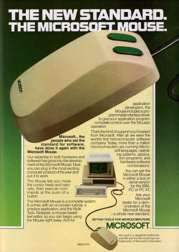 iklan komputer jadul klasik microsoft mouse