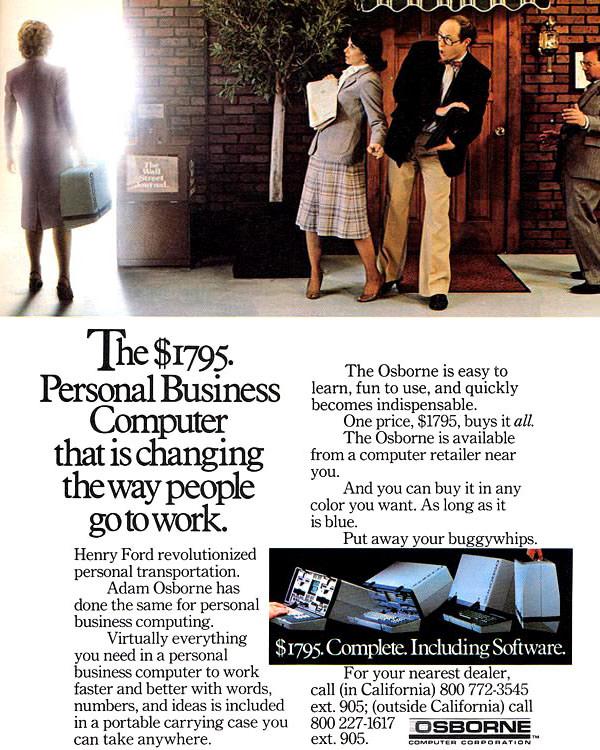 iklan komputer jadul klasik osborne computer