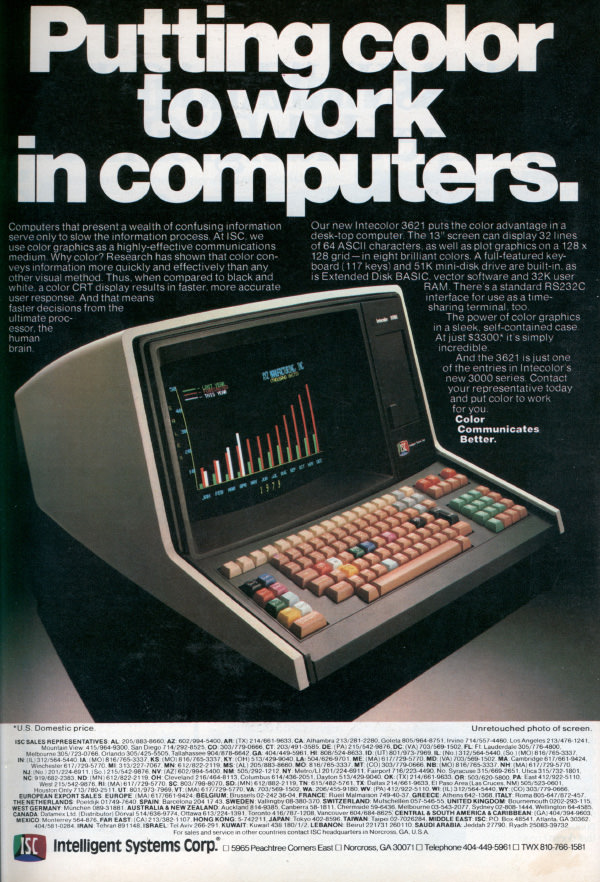 iklan komputer jadul klasik putting work into color