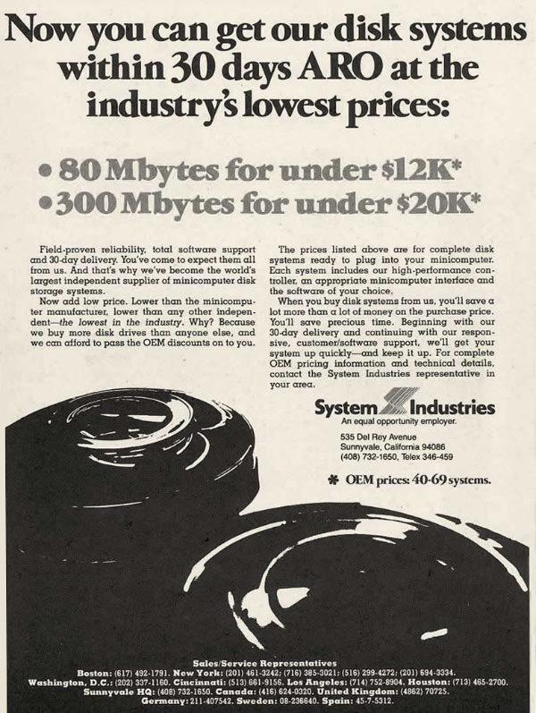 iklan komputer jadul klasik system industries