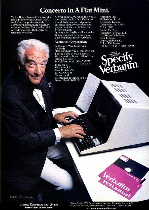 iklan komputer jadul klasik verbatim