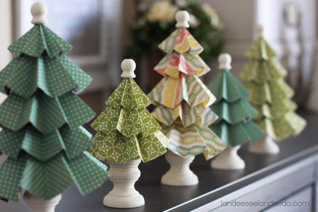 Membuat Pohon Natal dari Kertas Origami