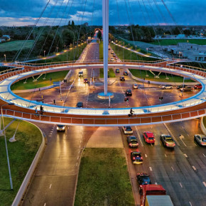 Hovenring, Jembatan Penyebrangan Khusus Sepeda Pertama di Dunia