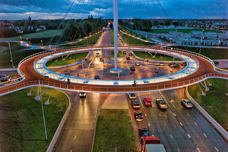 jembatan sepeda hovenring belanda 1