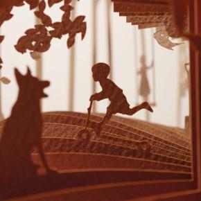 Diorama 3D dari Potongan Kertas oleh Yusuke Oono