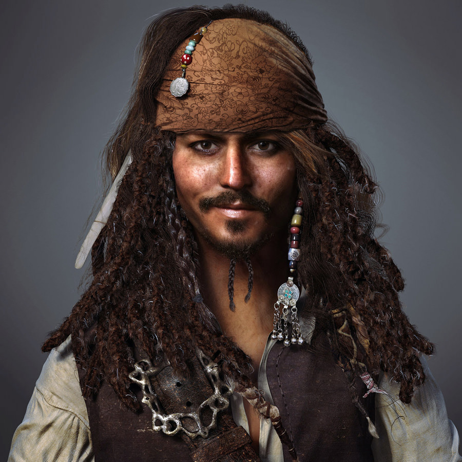 01 Render 3D Realistis - CAPTAIN JACK SPARROW by ZhiHeng Tang
