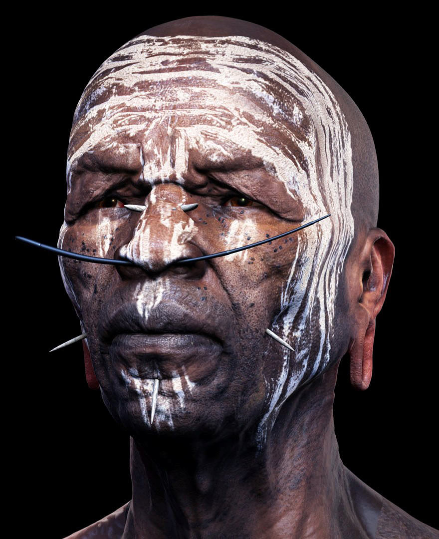 06 Render 3D Realistis - MURSI TRIBESMAN by Adam Skutt