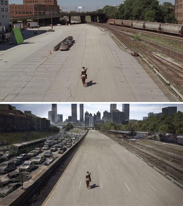 visual efek film sebelum dan sesudah 1