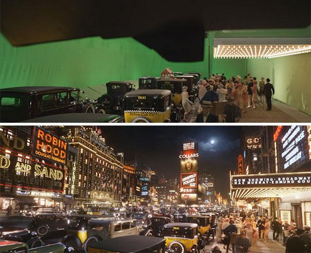 visual efek film sebelum dan sesudah 3