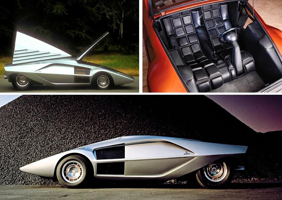 lancia stratos zero bertone retro classic car 02