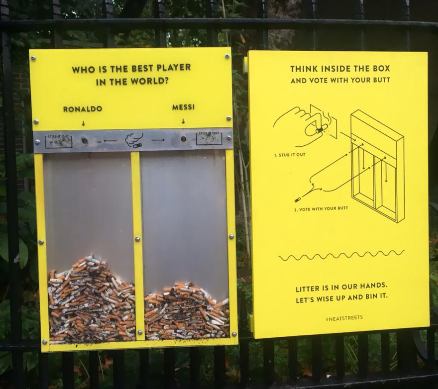mengatasi sampah sisa rokok london
