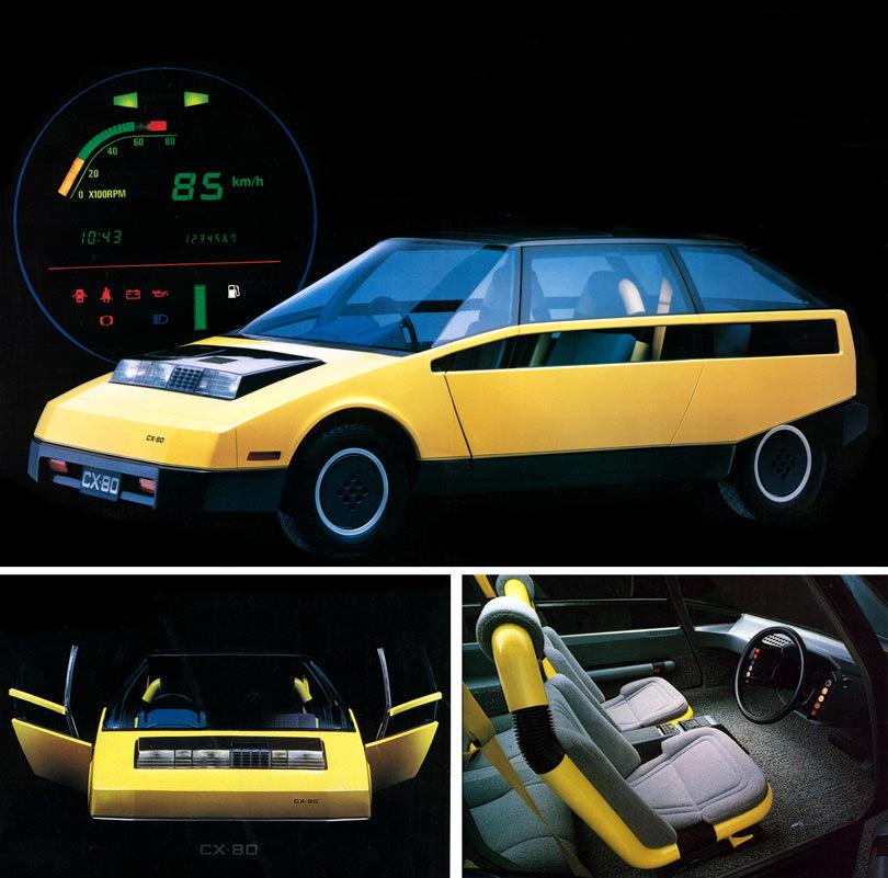 toyota fcx 80 retro classic car 01